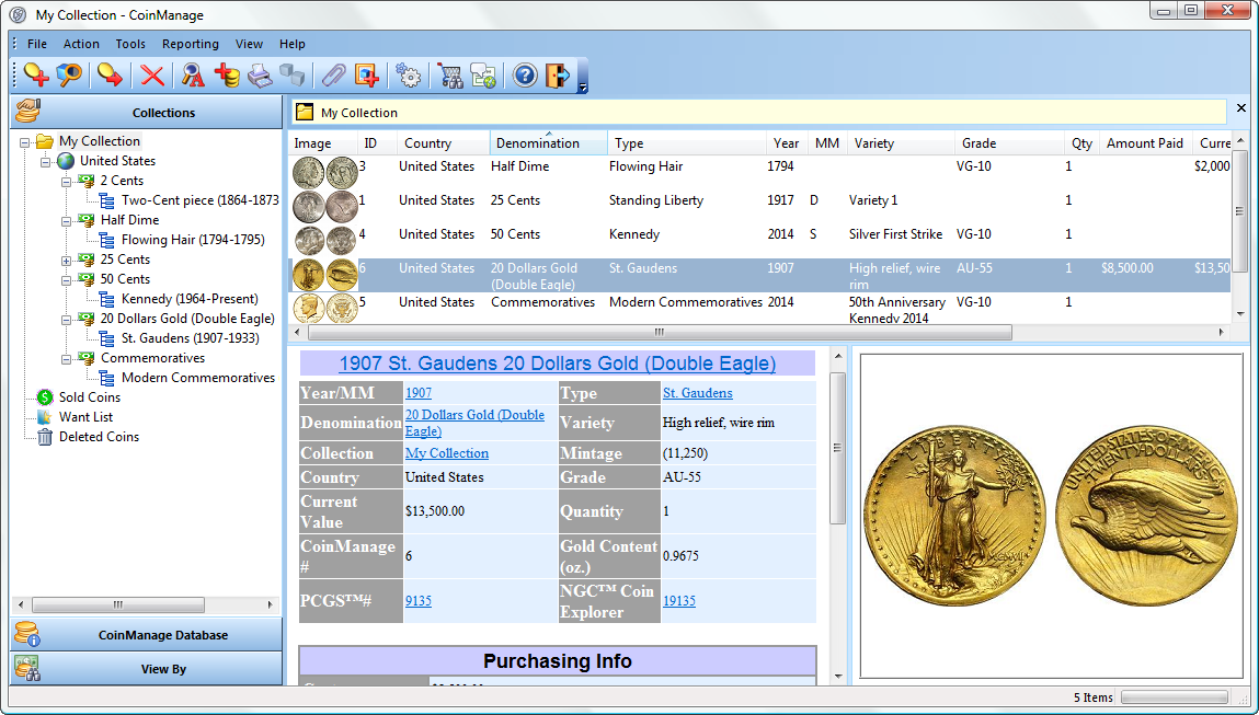 Coin Collecting Software  Inventory and Value Your Collection