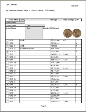 photograph relating to Printable Coin Checklist referred to as Coin Amassing Software package. Stock and Truly worth Your Range.
