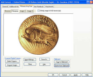 Coin Collector Software - CoinManage Image View